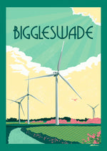A4 Prints | Biggleswade retro style poster