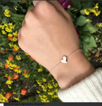 Jewellery | Sterling silver and rose gold slider heart bracelet