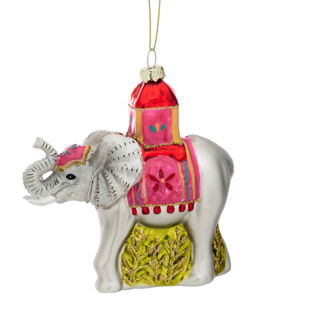 Christmas | Elephant glittery tree decoration