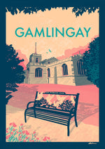 A4 Prints | Gamlingay retro style poster