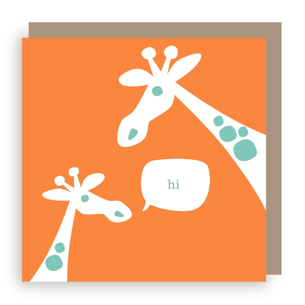Greetings card | giraffe