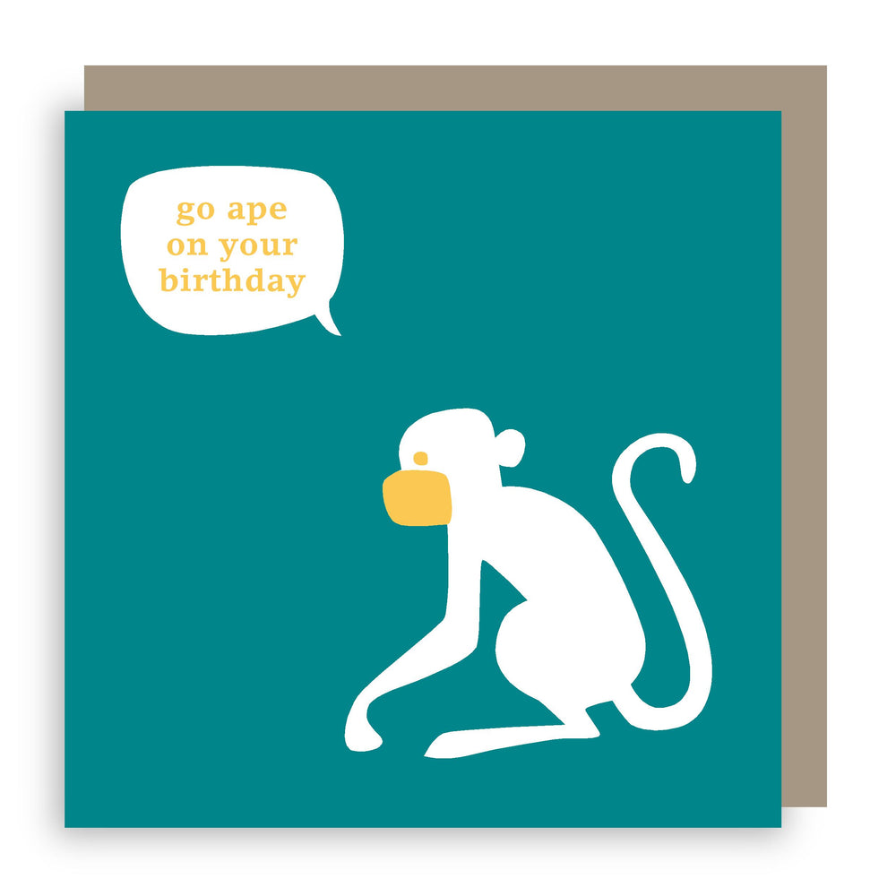 Birthday card | monkey