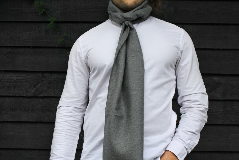 Mens | Grey bamboo scarf