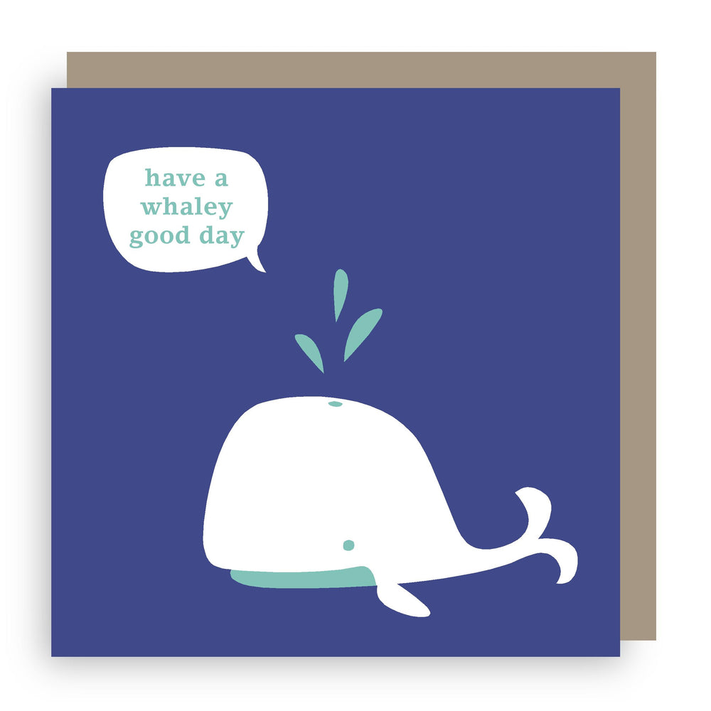 Birthday card | whale