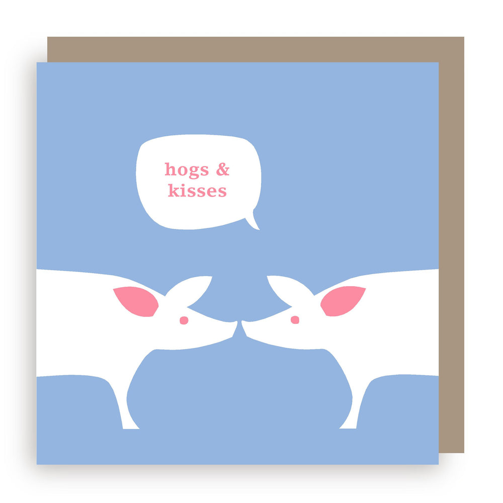 Greetings card | pigs