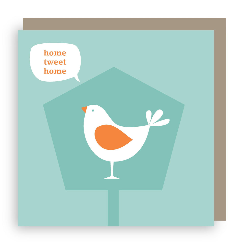 New home card | bird