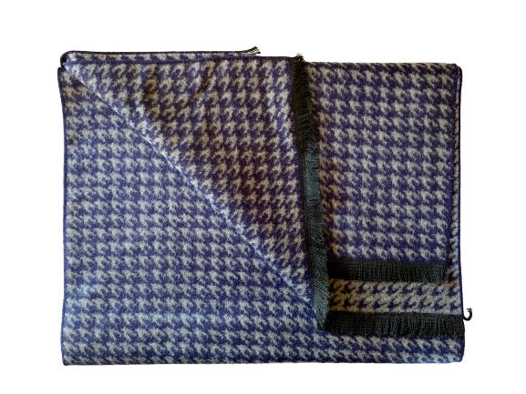Mens | Grey houndstooth bamboo scarf