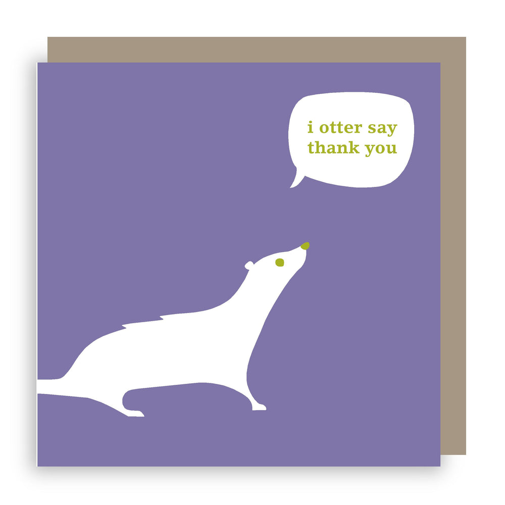 Thank you card | otter