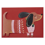 Christmas card | Raspberry blossom/ Cut out Christmas dog