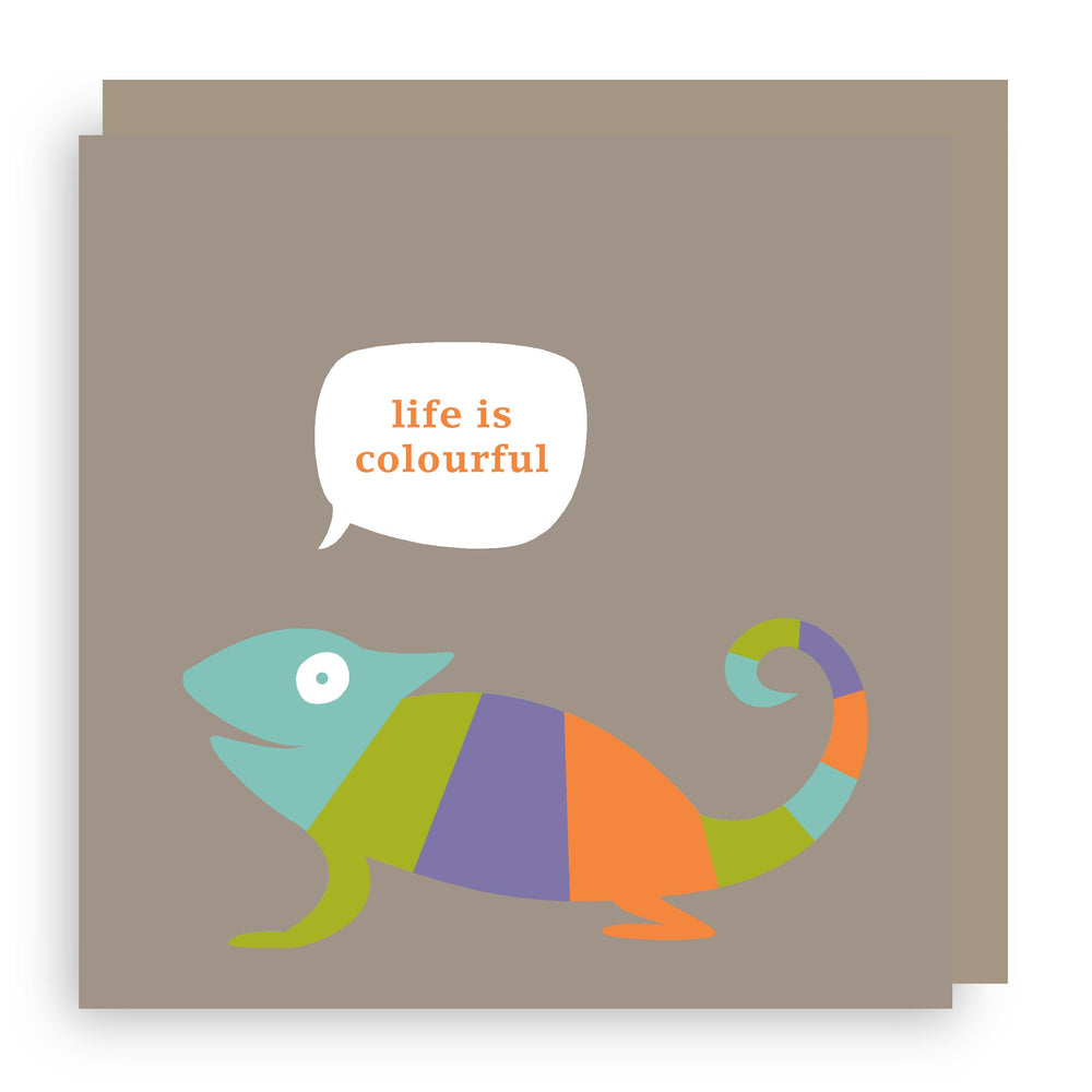 Greetings card | chameleon