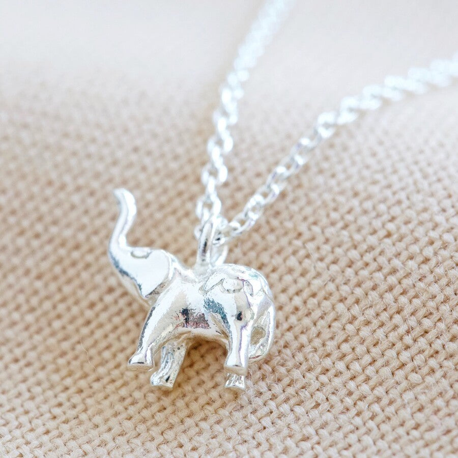 Jewellery | Tiny Elephant Pendant Necklace in Silver