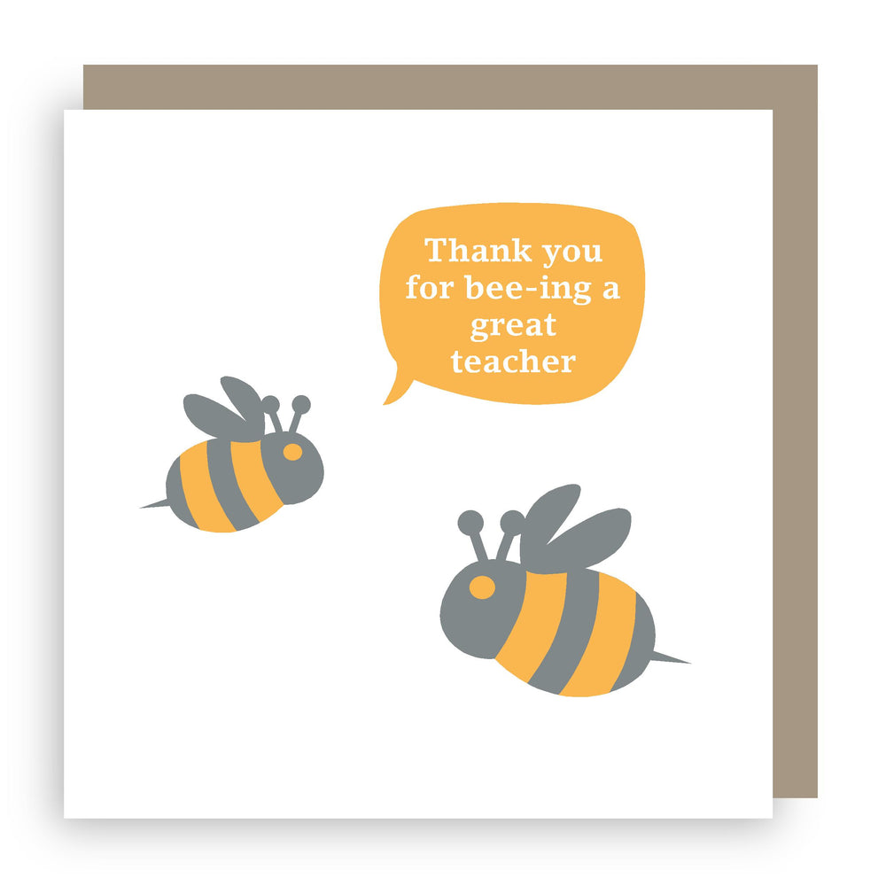 Thank you teacher card | bee