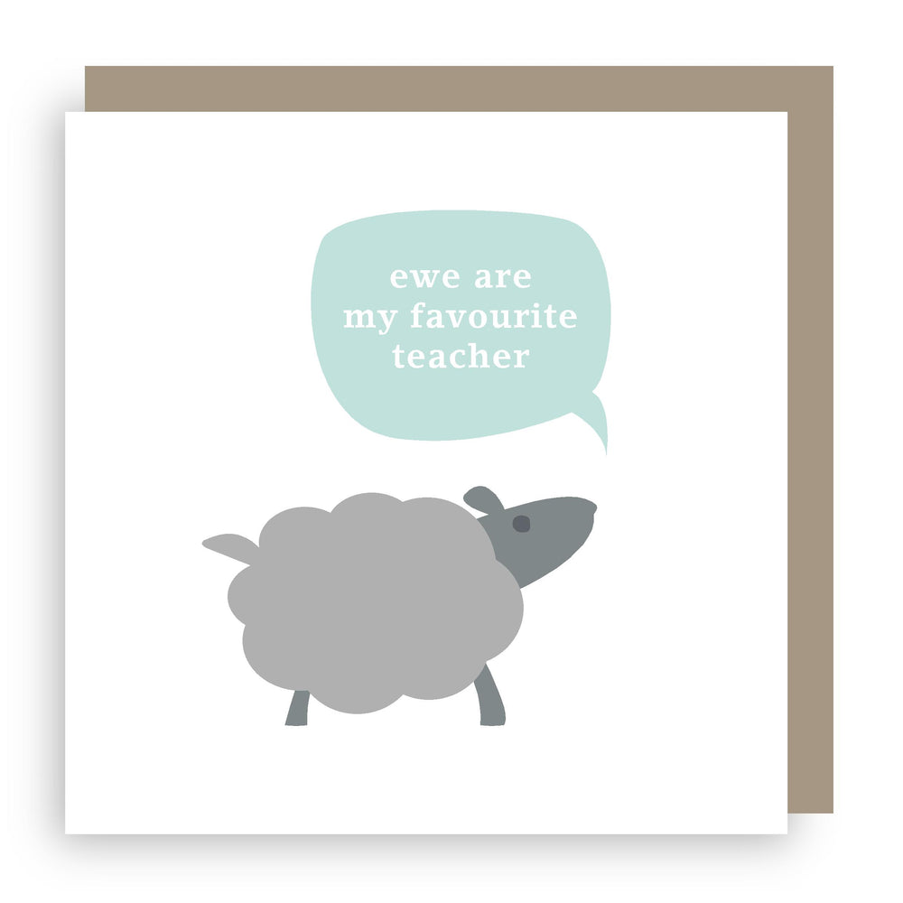 Thank you teacher card | sheep