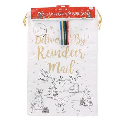 Christmas | Colour your own christmas sack