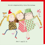 Christmas card | Rosie/ Don't spill it