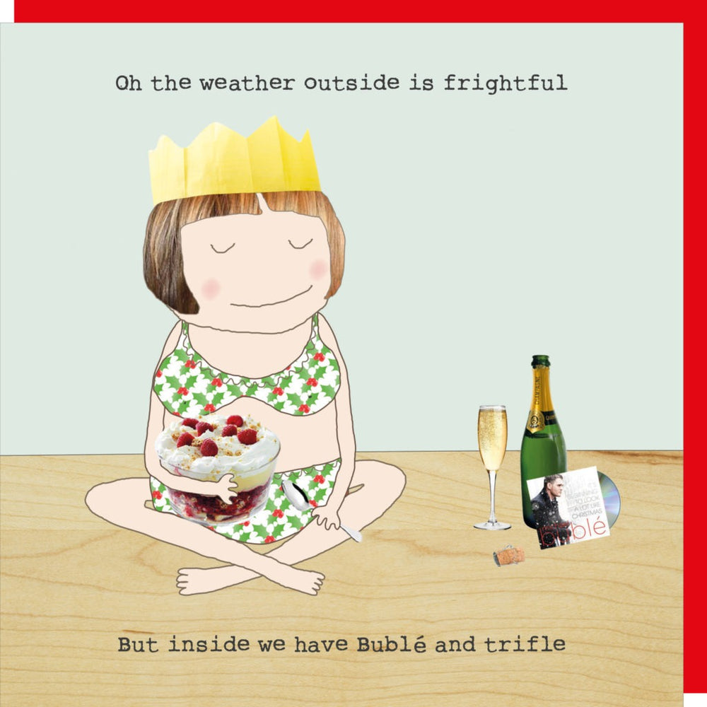 Christmas card | Rosie/ Buble and trifle