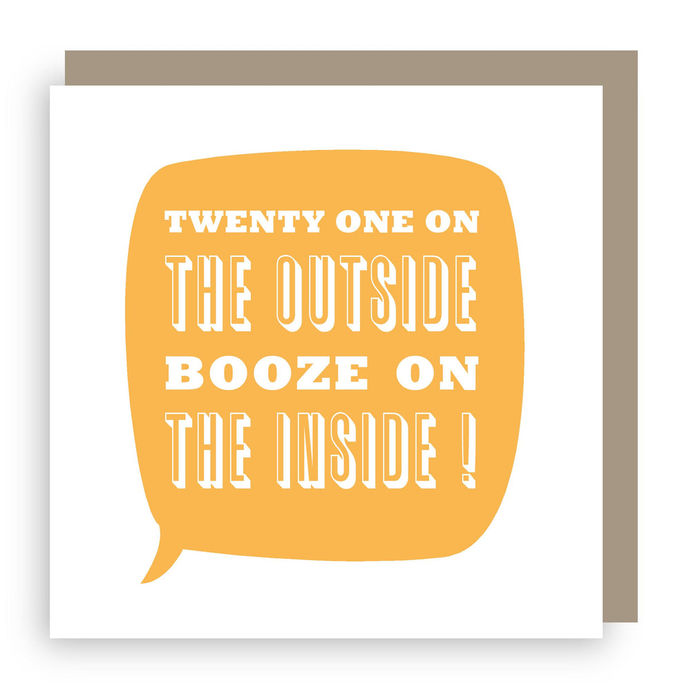Birthday card | twenty one