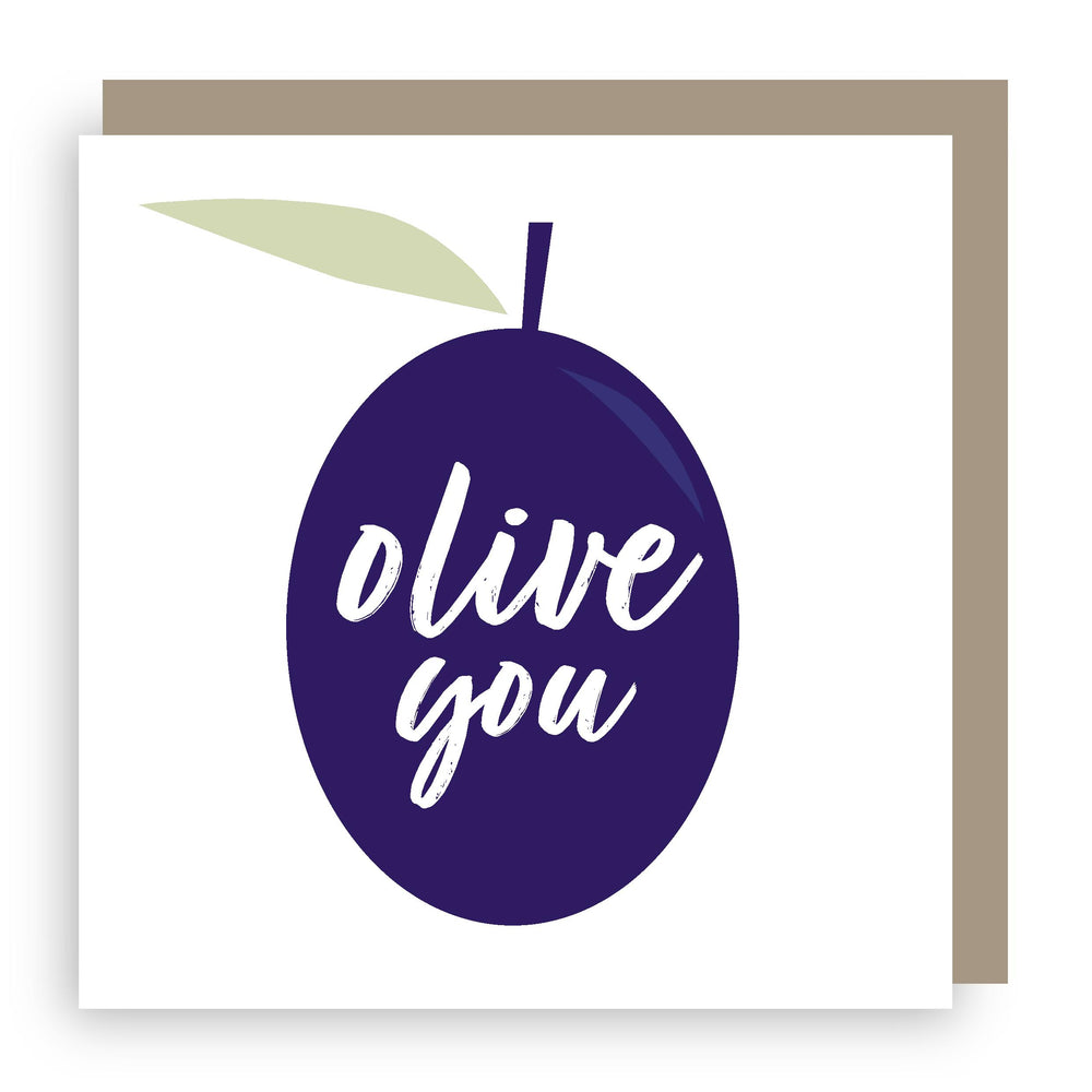 Greetings card | olive