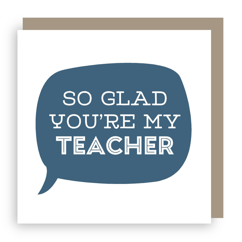 Thank you teacher card | so glad