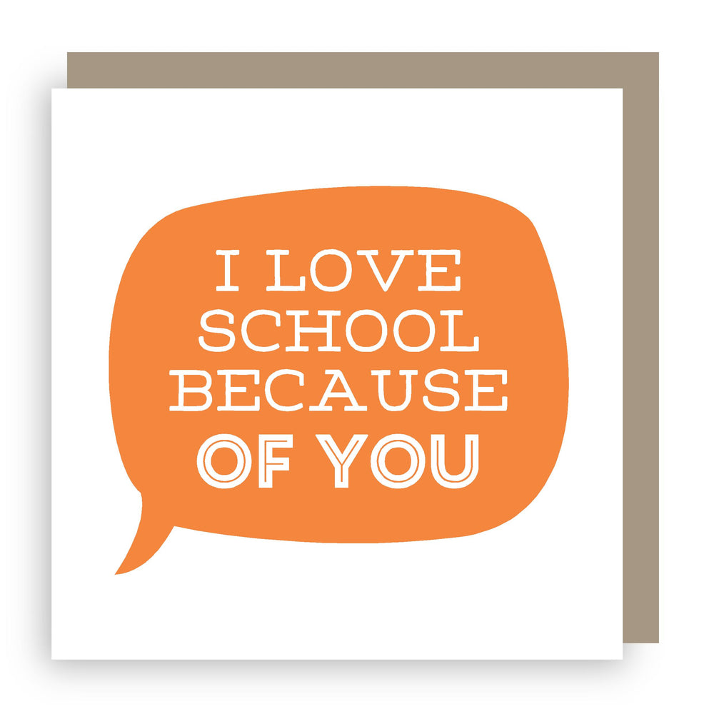 Thank you teacher card | love school
