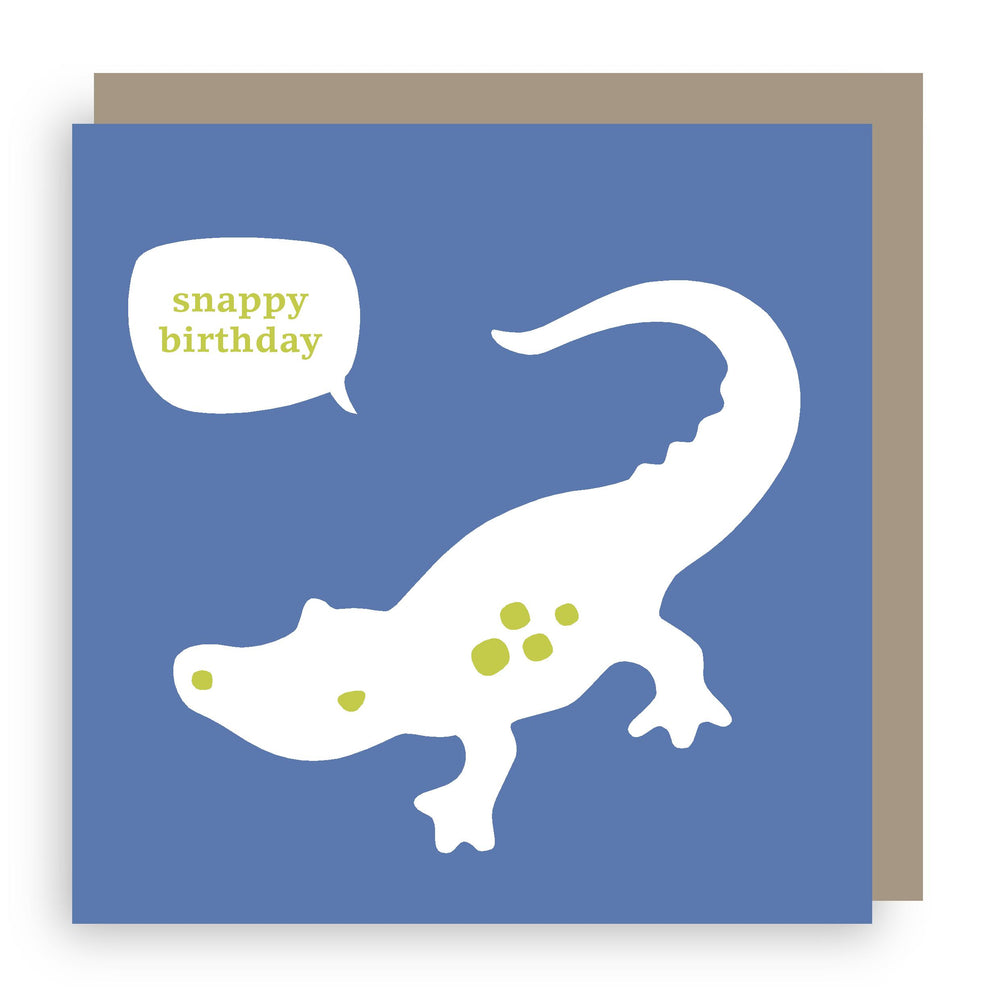 Birthday card | crocodile