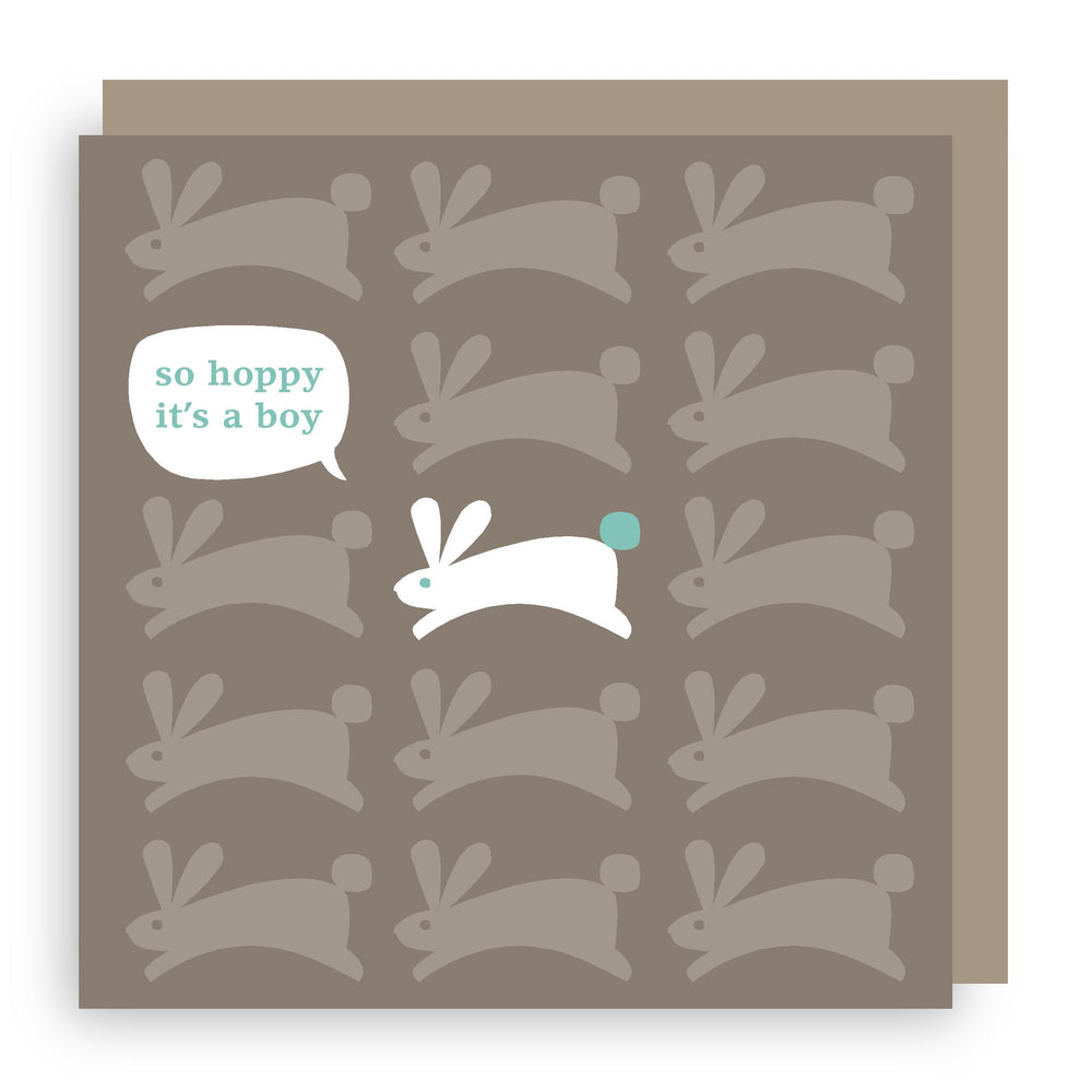 New baby boy card | bunny