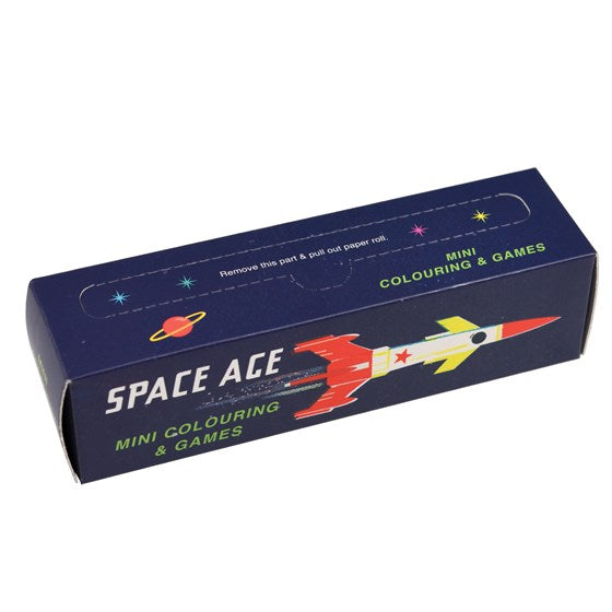 Children's | Space age mini  colouring and games