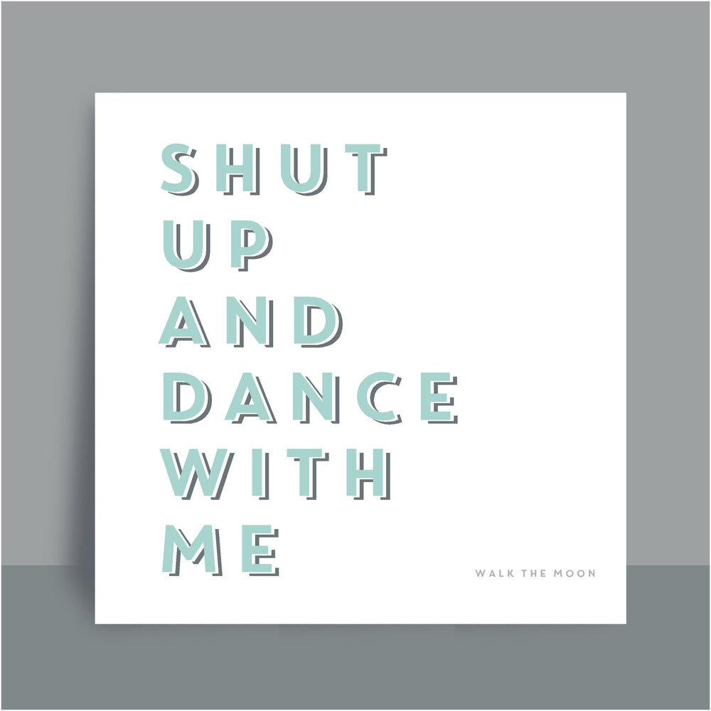 Framed Print | Shut up and dance - Duck egg blue