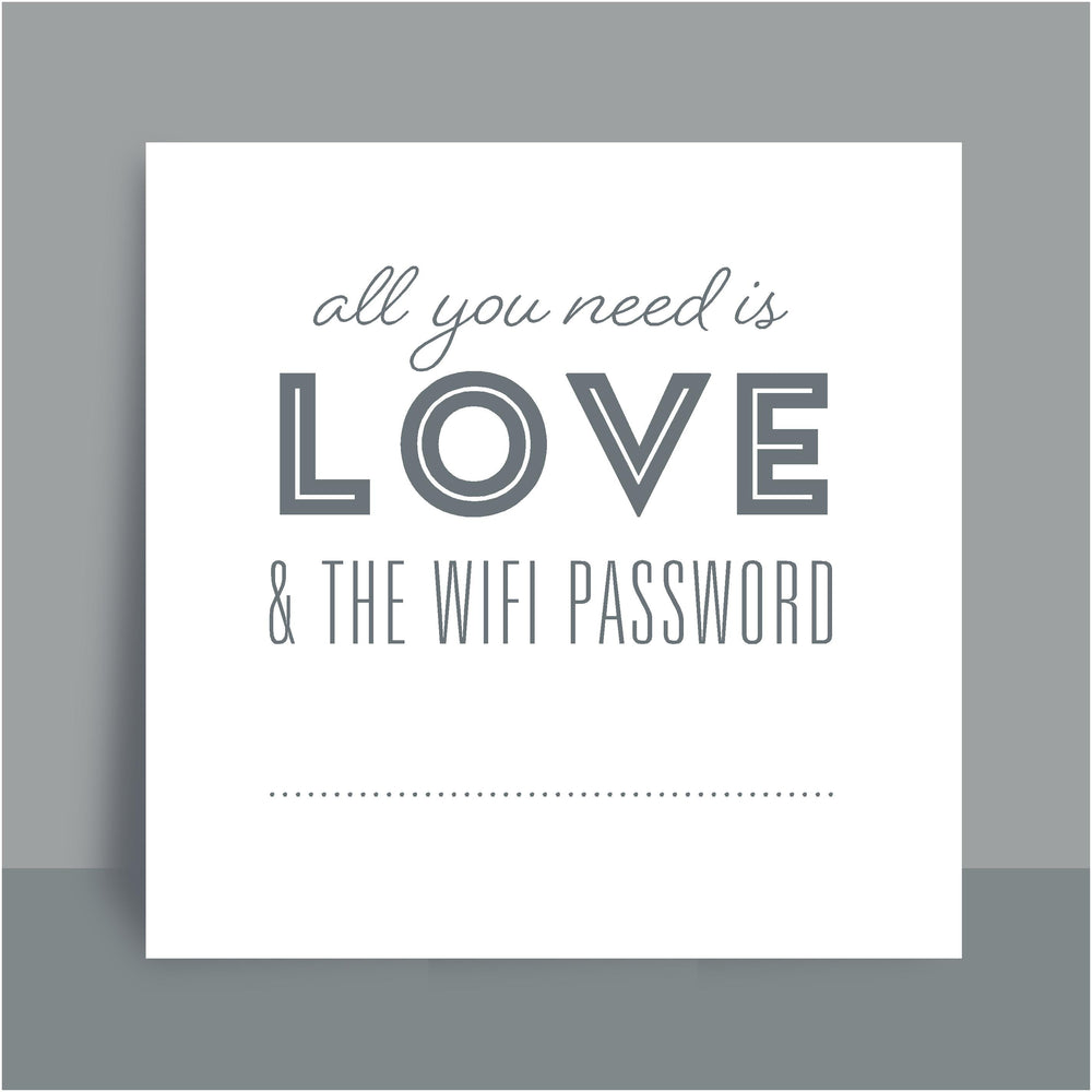 Framed Print | Love and WiFi