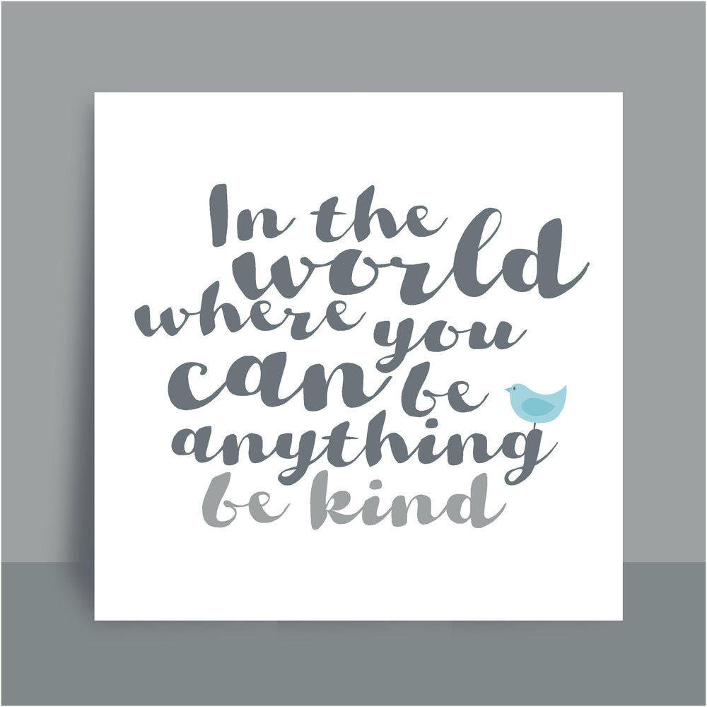 Framed Print | Be kind