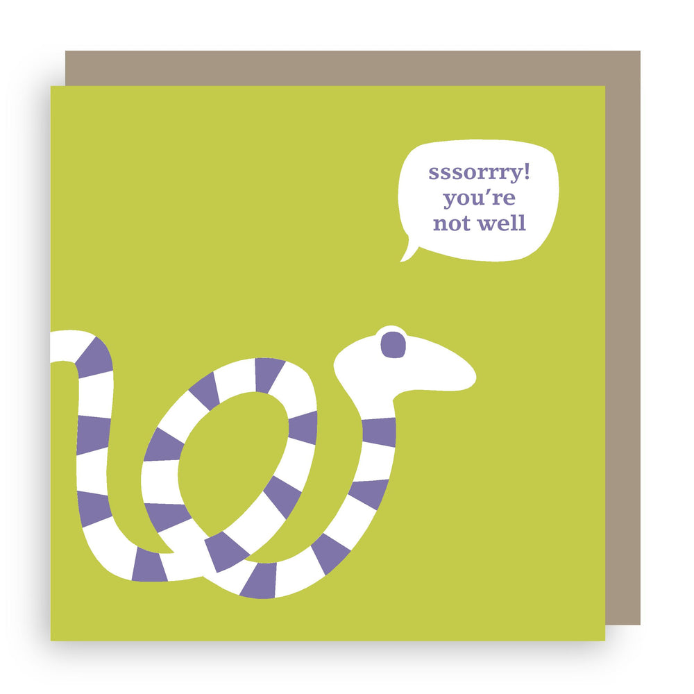 Get well soon card | snake