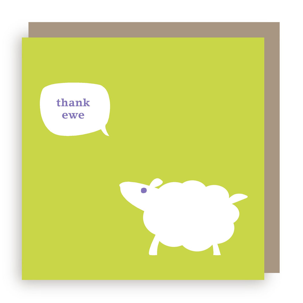Thank you card | sheep