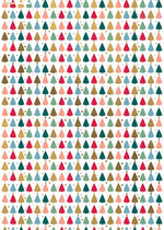 Christmas | Double sided Christmas wrap with colourful tree design