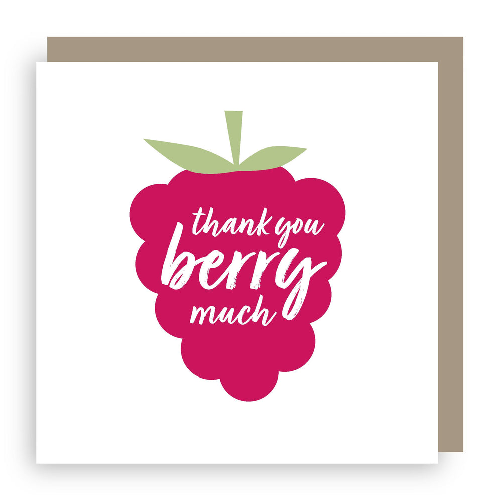 Thank you card | raspberry