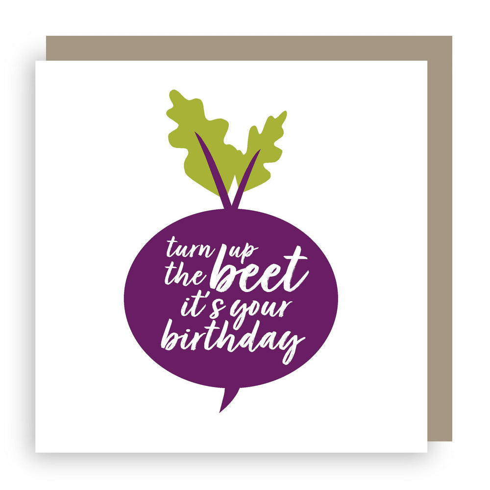 Birthday card | beetroot
