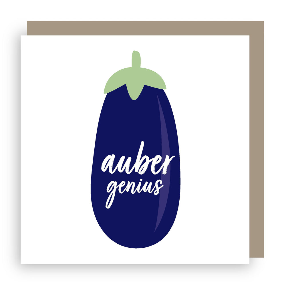 Congratulations card | aubergine