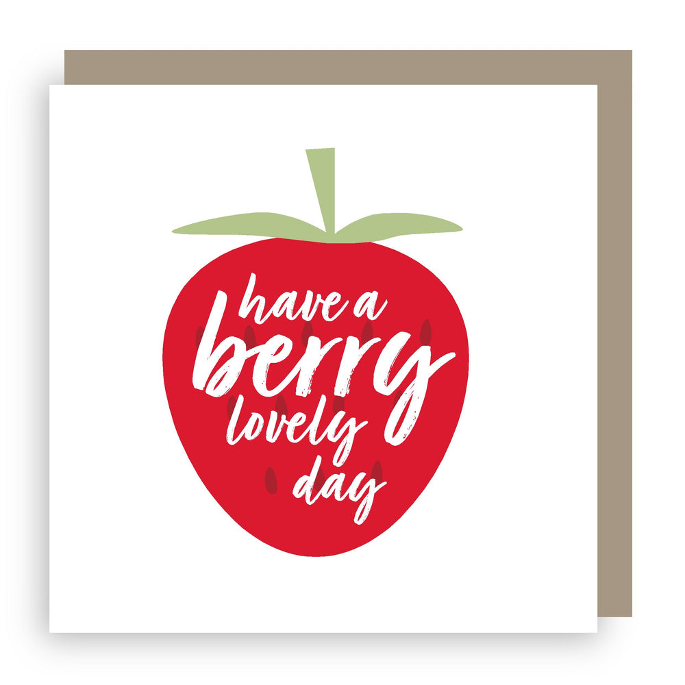 Birthday card | strawberry