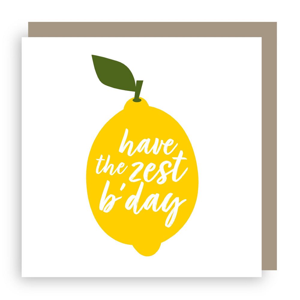 Birthday card | lemon