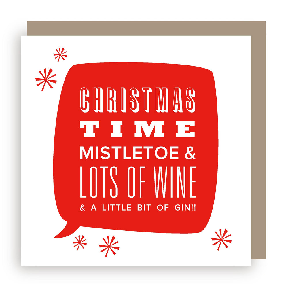 Christmas card | mistletoe