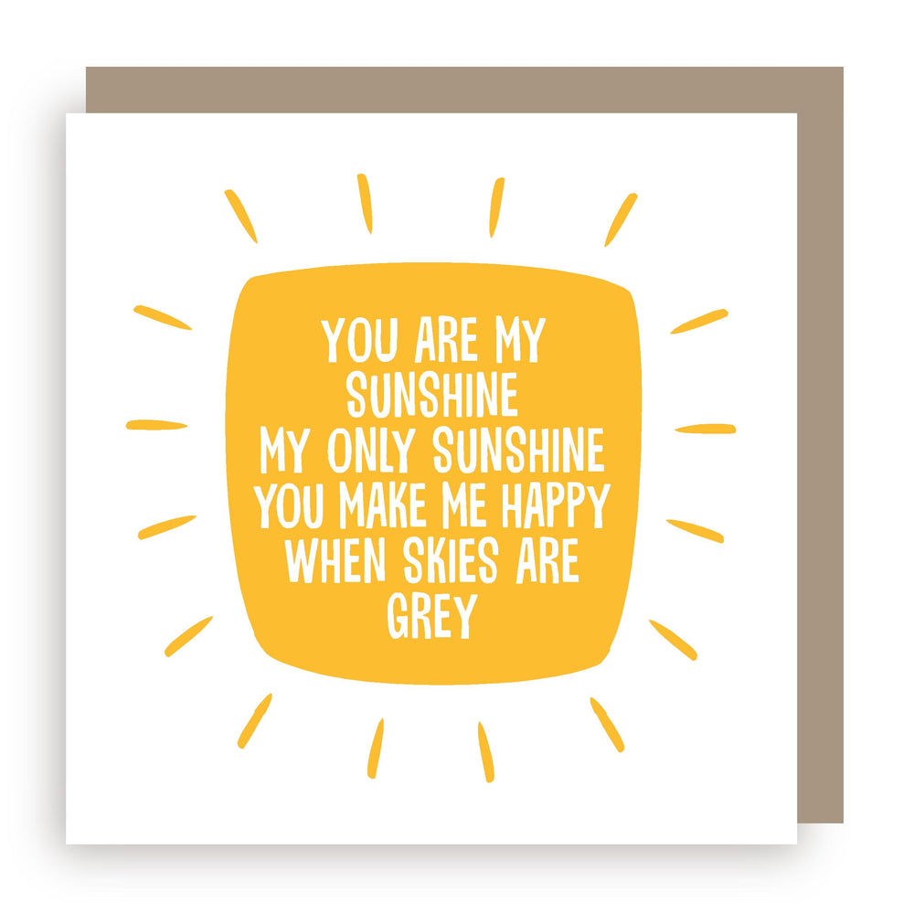 Greetings card | sunshine