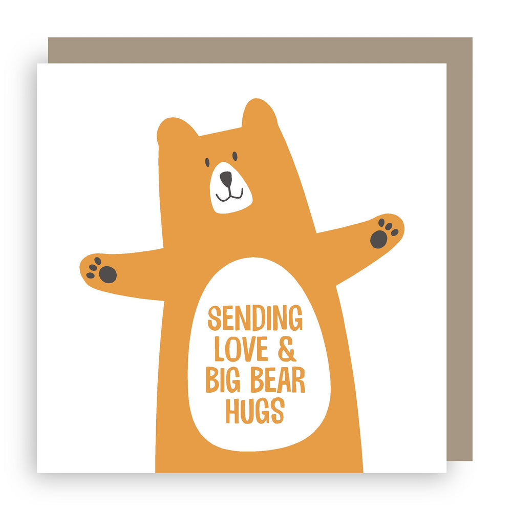 Greetings card | bear hugs