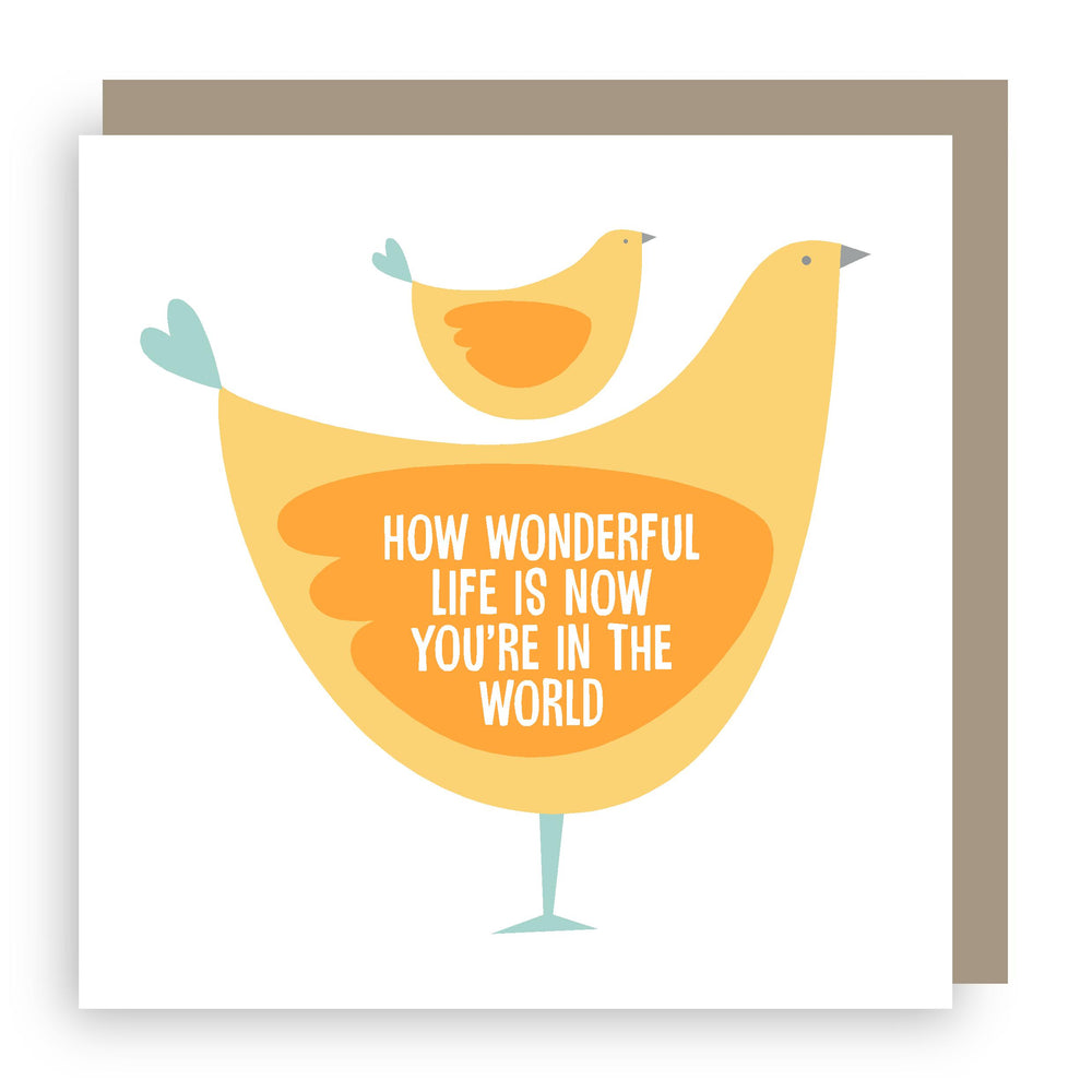 New baby card | wonderful