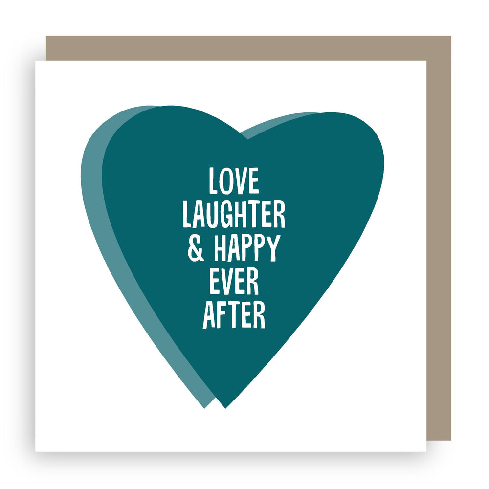 Wedding/Anniversary card | love laughter