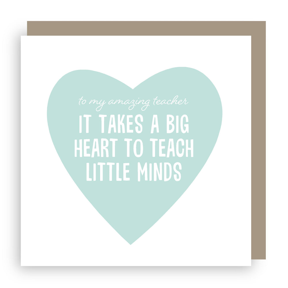 Thank you teacher card | heart