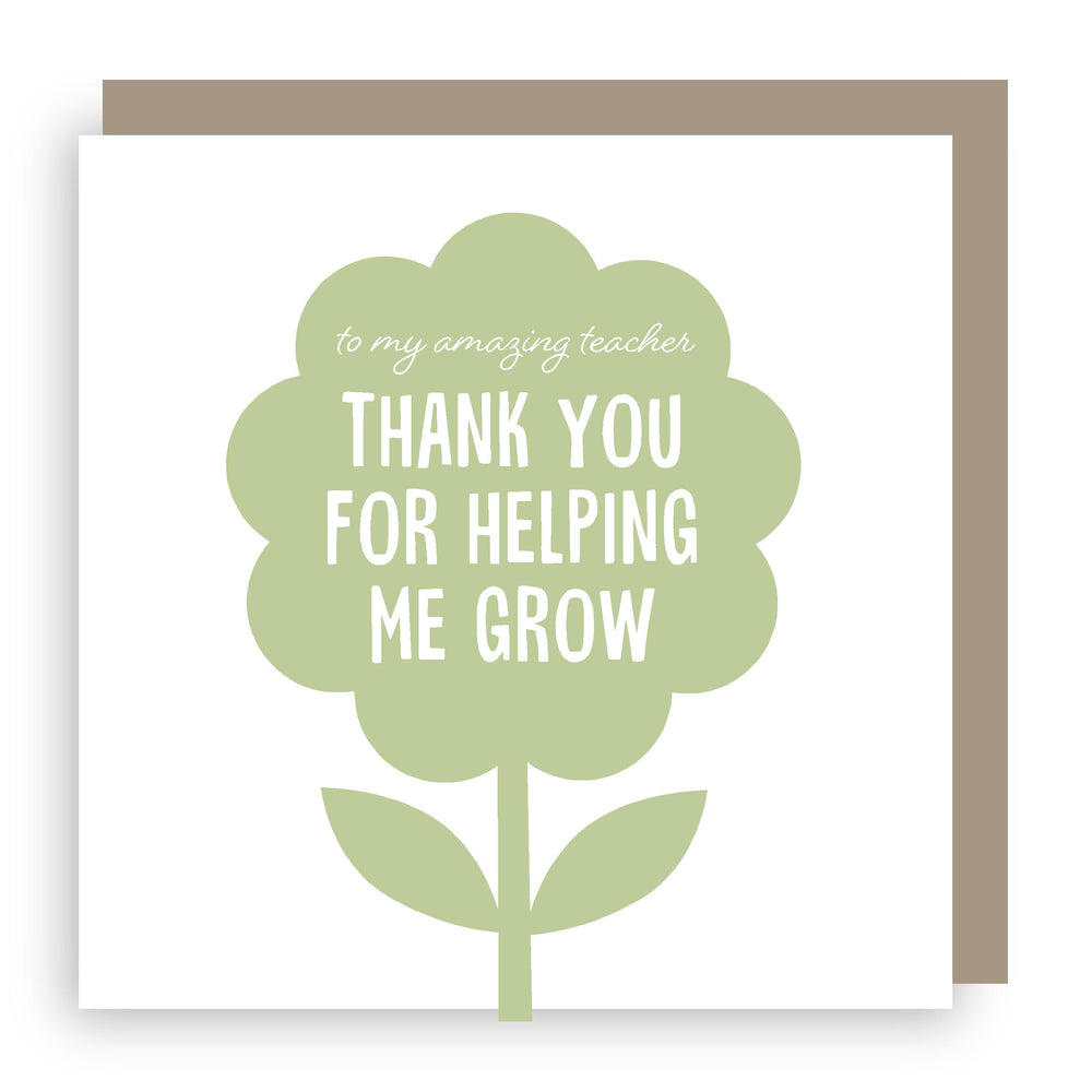 Thank you teacher card | grow
