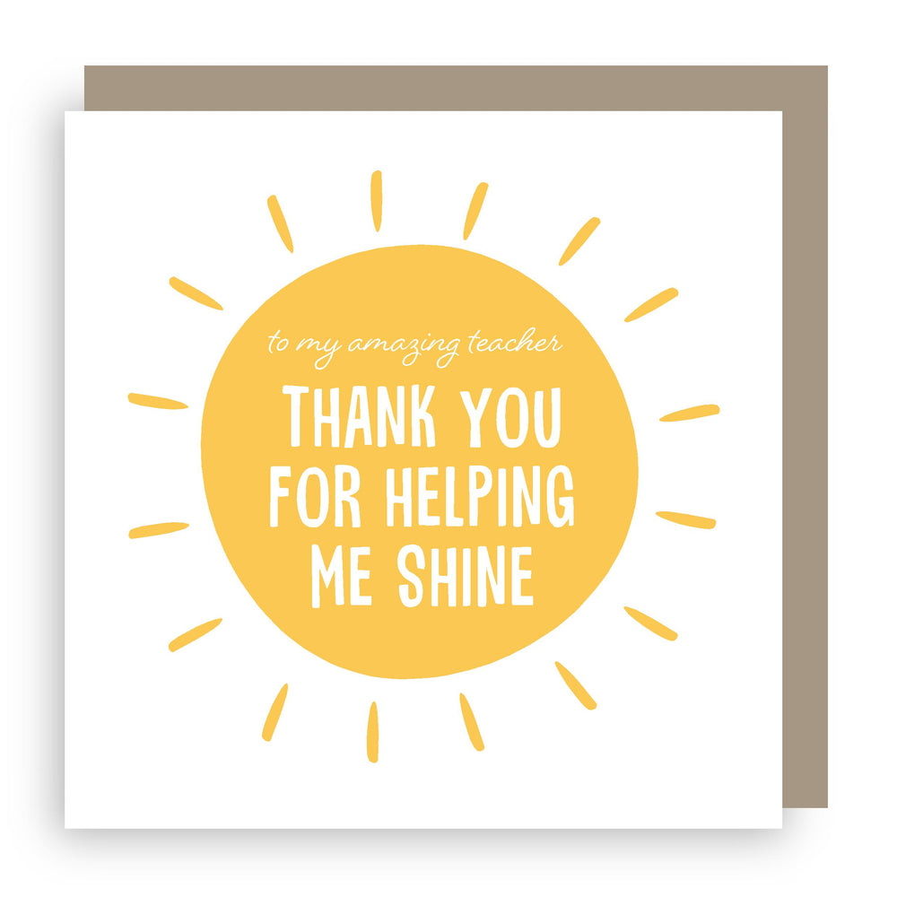 Thank you teacher card | shine