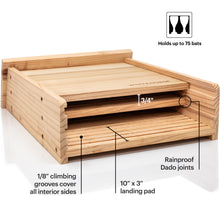 Load image into Gallery viewer, Premium Cedar Bat House (2 Chambers)