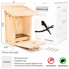 Load image into Gallery viewer, Premium Cedar Bluebird House (Nestbox)