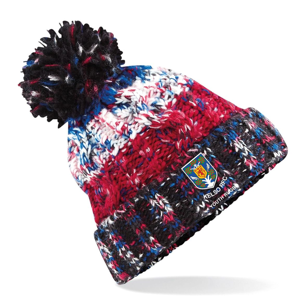 Kelso RFC Youth Rugby Corkscrew Bobble hat