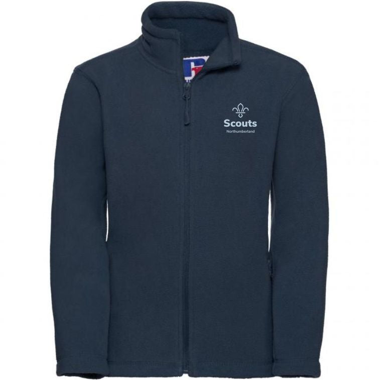 Northumberland Scouts Full Zip Fleece Mens